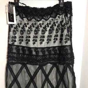 ECI New York embellished lace skirt 8 NWT.